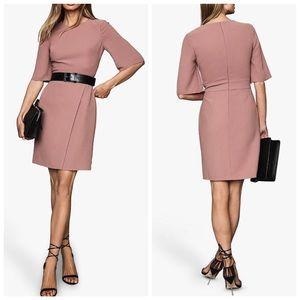 Reiss Myra Wrap Front Shift Dress Size 6 NWT